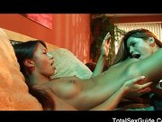 Hot lesbians fuck with passion
