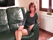 Mature redheaded mom masturbates